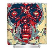 Skull In Hope Shower Curtain