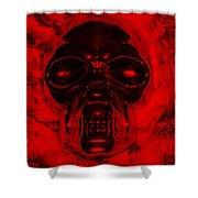 Skull In Red Shower Curtain