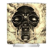 Skull In Sepia Shower Curtain