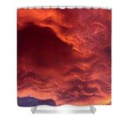 Sky Fire Shower Curtain