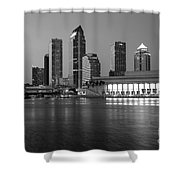 Skyline Of Tampa Along Waterfront Shower Curtain