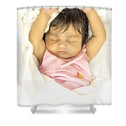 Sleeping Baby Shower Curtain