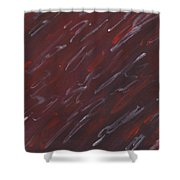 Red Dreamy Shower Curtain
