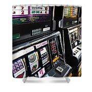 Slot Machines At An Airport, Mccarran Shower Curtain