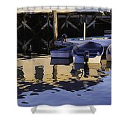 Small Boats And Dock In Port Clyde Maine Shower Curtain