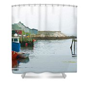 Boats In Peggy's Cove Shower Curtain