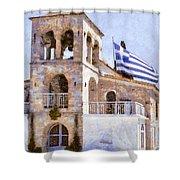 Small Greek Church Shower Curtain
