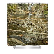Smalls Falls In Autumn Western Maine Shower Curtain