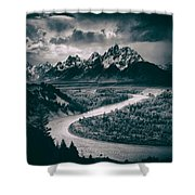 Snake River In The Tetons - 1930s Shower Curtain