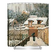 Snow At Louveciennes  Shower Curtain