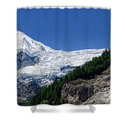 Snow Glacier Shower Curtain