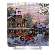 Snow Streets Shower Curtain by Dominic Davison