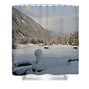 Snowed Under Shower Curtain