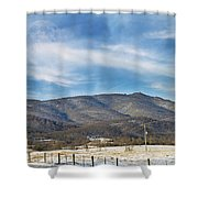 Snowy High Peak Mountain Shower Curtain