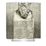 Socrates Shower Curtain by English School