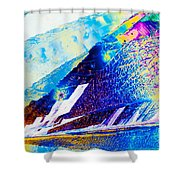 Sodium Thiosulphate Crystals In Polarized Light Shower Curtain