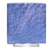 Soft Clouds In The Blue Sky Shower Curtain