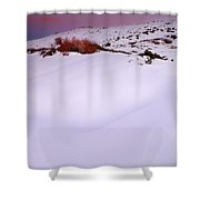 Soft Snow At Sunset Shower Curtain