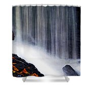 Softly Flowing Shower Curtain