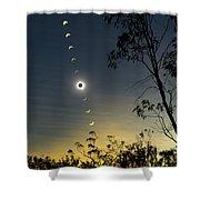 Solar Eclipse Composite, Queensland Shower Curtain