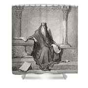 Solomon Shower Curtain by Gustave Dore