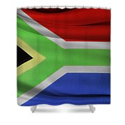 South African Flag  Shower Curtain