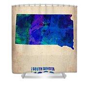 South Carolina Watercolor Map Shower Curtain by Naxart Studio