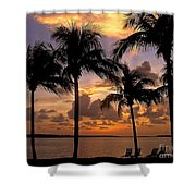 South Florida Sunset Shower Curtain