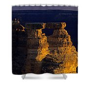 South Rim Grand Canyon Taken Near Mather Point Sunrise Light On  Shower Curtain
