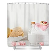 Spa Setting Shower Curtain