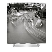 Swirling Motion Shower Curtain