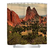 Spires In The Garden Shower Curtain