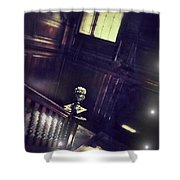 Spooky Stairway Shower Curtain