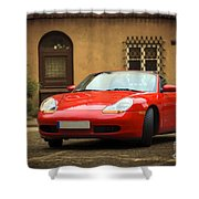 Sport Car In The Old Town Scenery Shower Curtain