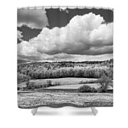Spring Farm Landscape With Dandelions In Maine Shower Curtain