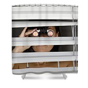 Spying Shower Curtain