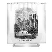 St. Louis High School - 1874 Shower Curtain