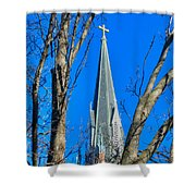 St. Marys Church Steeple Of St Marys Church Shower Curtain
