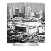 St. Pete Times Forum And Tampa Skyline Shower Curtain