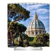 St Peters Basilica Dome Shower Curtain