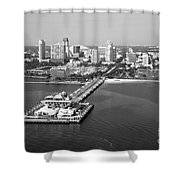 St Petersburg Skyline And Pier Shower Curtain