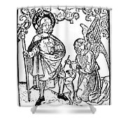 St. Roch (c1350-c1379) Shower Curtain