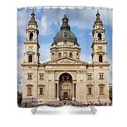 St. Stephen's Basilica In Budapest Shower Curtain