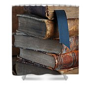 Stack Of Vintage Books Shower Curtain