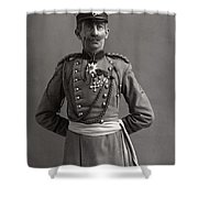 Stage German Officer Shower Curtain