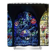 Stained Glass Chagall Windows Shower Curtain