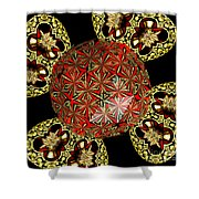 Stained Glass Kaleidoscope Under Glass Shower Curtain