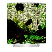 Stained Glass Panda 2 Shower Curtain