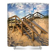 Stairway To Heaven Shower Curtain by Debra and Dave Vanderlaan