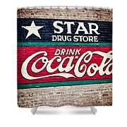 Star Drug Store Wall Sign Shower Curtain